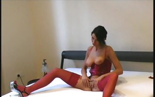 large boob girl flexible with fake penis