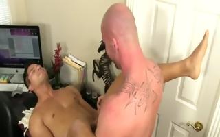 sexy homo pervy boss mitch vaughn lastly delves