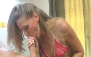sexually excited mommy engulfing jock in pov style