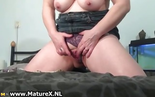 horny aged mom is squeezing part6