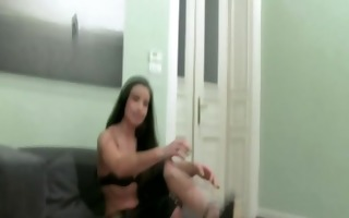real sex auditions brunette hair giving head