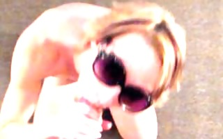 pov orall-service in sunglasses with cum on