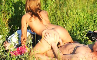 sexually lustful redhead strips in public and