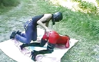 bizarre floozy fist fucked outdoors in her gaping
