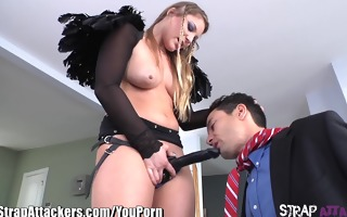 strapattackers aurora snow ass copulates boy with