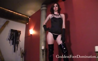emma boot cleaning foot villein - femdom - boot
