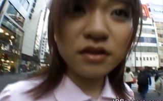 wicked oriental girl is pissing in public part4