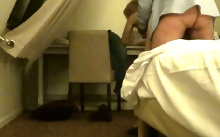 spying a slutty pair in a hotel room