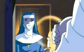 nun manga acquires her raiment ripped of and