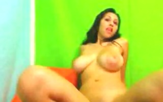breasty latina toying her wet crack and rectal