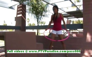 alexa loren lovely breasty brunette girl flashing