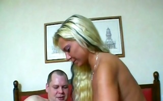 large ramrod makes golden-haired girl groan -