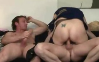 lascivious aged sucks cock while giving a tugjob
