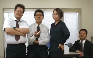 asian secretary from tokyo with arse milk