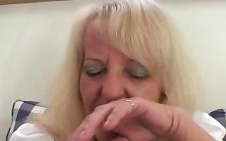 blond granny in hawt threesome fuckfest