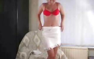 cute blonde cutie undressing