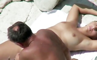 he is plays with her cunt and fucks it is on the