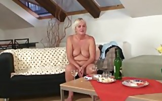 drunk orgy with lewd granny and her son in law