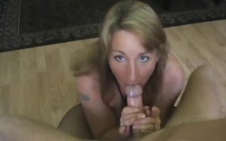 pov oral-sex by a breasty amateur