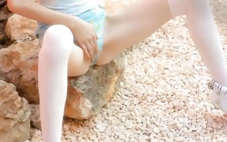 miniature slender doll strip