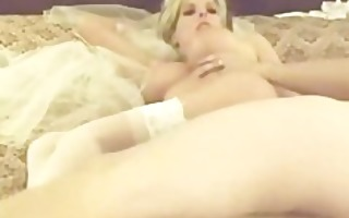 golden-haired bride honeymoon fuck